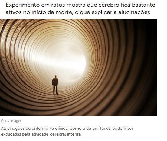 Tunel sempre relatado pelas pessoas que passam pela EQM - Experiência de quase-Morte